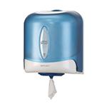 Dispenser din plastic pentru prosoape hartie pe rola cu derulare centrala mare, albastru - Reflex