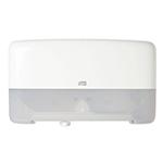Dispenser Twin din plastic pentru hartie igienica in rola Mini Jumbo, alb