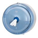 Dispenser din plastic pentru hartie igienica in rola Maxi Jumbo, albastru - SmartOne