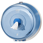 Dispenser din plastic pentru hartie igienica in rola Mini Jumbo, albastru - SmartOne Mini