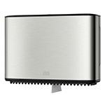 Dispenser din metal pentru hartie igienica in rola Mini Jumbo, gri