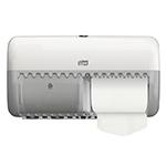 Dispenser din plastic pentru hartie igienica in rola compacta, alb