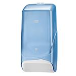 Dispenser din plastic pentru hartie igienica Bulk (pliata), albastru