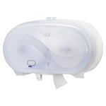Dispenser din plastic pentru hartie igienica in rola Mini Jumbo, alb - Twin Midsize Coreles