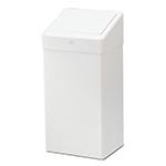 Cos de gunoi din metal, alb, 50 L