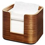 Dispenser din lemn pentru servetele de masa, maro - Xpressnap Snack