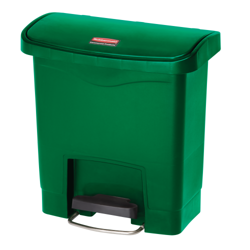 Container Slim Jim cu pedala in fata 15 L, verde