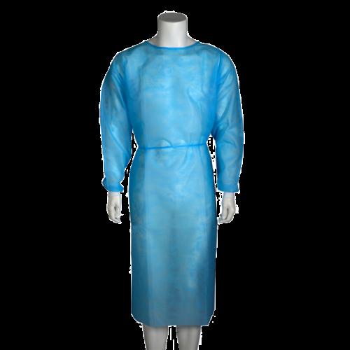 Halat vizitator din polipropilena cu mansete elastice, albastru - Abena