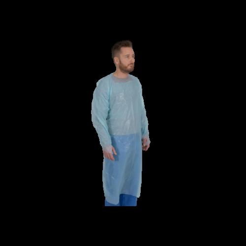 Sort protectie cu maneci 120 x 112 cm, albastru