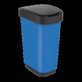 Cos gunoi mare cu capac batant Twist Premium 50L, albastru