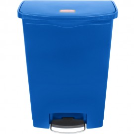 Container Slim Jim cu pedala in fata 90 L, albastru - Rubbermaid