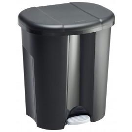 Cos gunoi cu pedala Duo 20L, negru
