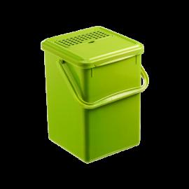 Cos gunoi menajer/organic cu filtru impotriva mirosului Bio 9,7L, verde