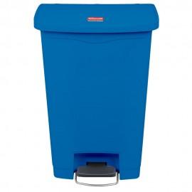 Container Slim Jim cu pedala in fata 50 L, albastru - Rubbermaid