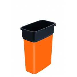 Container mediu colectare selectiva deseuri Selecto Premium 55L, portocaliu