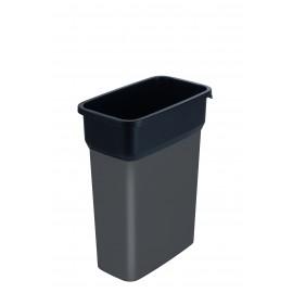 Container mediu colectare selectiva deseuri Selecto Premium 55L, gri
