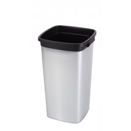 Container patrat Iris 60L, gri metalic - Rothopro