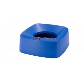Capac patrat tip palnie pentru container Iris/Modo, albastru