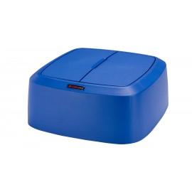 Capac patrat cu balamale pentru container Iris/Modo, albastru