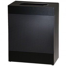 Cos de gunoi Silhoutte 85 L, inox/negru
