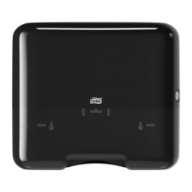Tork Singlefold/C-fold Mini Hand Towel Dispenser, black