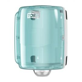 Dispenser role-lavete industriale, turcoaz - Tork Maxi Centrefeed