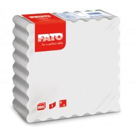Servetele 15x15 cm 1 strat, albe - Fato