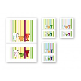 Napkin 1V 17x17 Funny Bar 4 Assorted Decorations