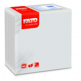 Servetele 33x33 cm 1 strat, albe - Fato