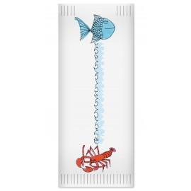 Suport tacamuri cu servetel, 38x38 cm, Sea Pesciolini - Fato