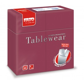 "Airlaid ""Quick Pocket"" napkins 40x40 Tablewear Bordeaux"