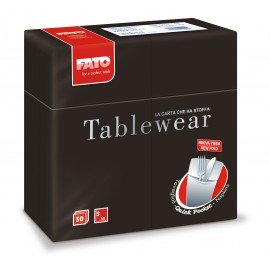 "Airlaid ""Quick Pocket"" napkins 40x40 Tablewear Black"