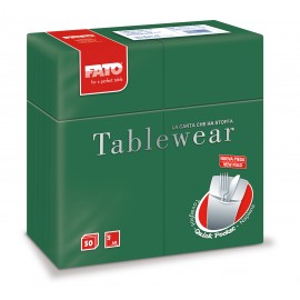"Airlaid ""Quick Pocket"" napkins 40x40 Tablewear Forest Green"