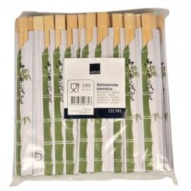 Betisoare chinezesti de unica folosinta 21cm - Ø0.5cm, biodegradabile - Abena