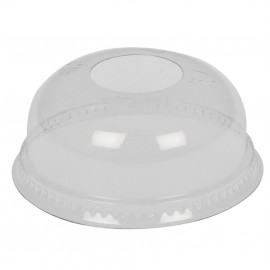 Capace bombate pentru pahare plastic Ø7.82 cm, transparent - Abena
