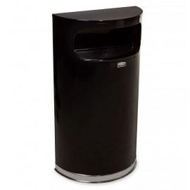 Cos de gunoi Half Round 45 L, inox/negru