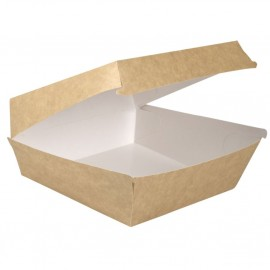 Caserola biodegradabila pentru burger 19 x 19 x 8.2 cm - Abena