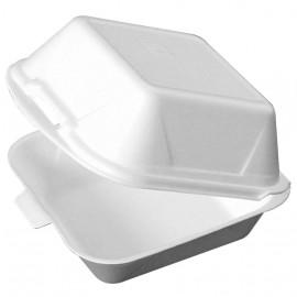 Casoleta rectangulara pentru burger XPS 15.5 x 15.5 cm - Abena