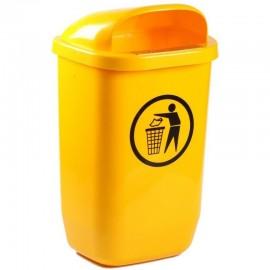 Cos gunoi stradal 50 L, galben