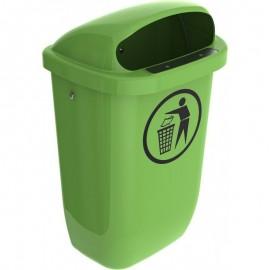 Cos gunoi stradal 50 L, verde