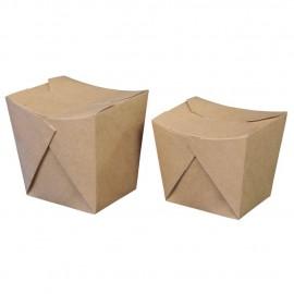 Cutie take away kraft biodegradabila 7 x 8.5 x 10.5cm, 700 ml - Abena