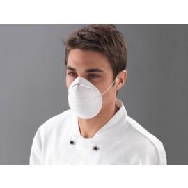 Masca faciala cu banda elastica, alba - Polyco