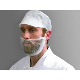 Protectie barba cu banda elastica, alba - Polyco