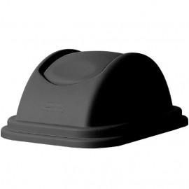 Capac cos de gunoi rectangular 39 L, negru