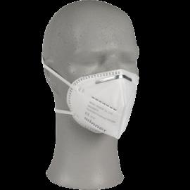 Masca faciala cu banda elastica FFP2 NR N95, alba - Abena