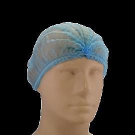 Capelina cu cusatura dubla, albastra - Global Hygiene