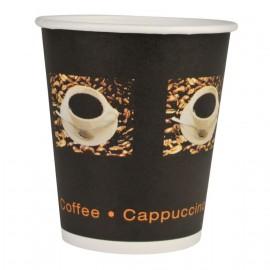 Pahare biodegradabile din carton pentru cafea Abena Gastro Coffee Beans 13.5cm, Ø8.9cm, 48 cl 16 Oz - Abena