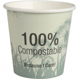 Pahare biodegradabile din carton pentru cafea Abena Gastro Dandelion 6.4cm, Ø6.2cm, 10 cl 4 Oz - Abena