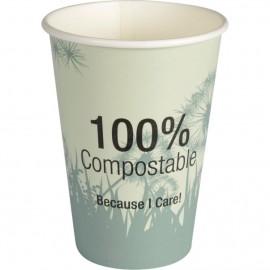 Pahare biodegradabile din carton pentru cafea Abena Gastro Dandelion 9.2cm, Ø7cm, 18 cl - Abena