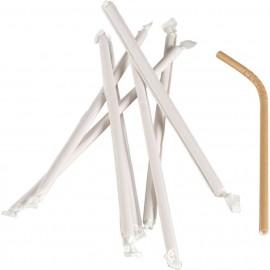 Paie flexibile biodegradabile din carton , ambalate individual, Abena Gastro 24 cm, Ø 6 mm (250 buc/set), maro - Abena